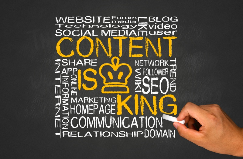 content is king internet concept